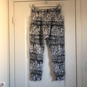 Anthropologie Printed drop crotch pants